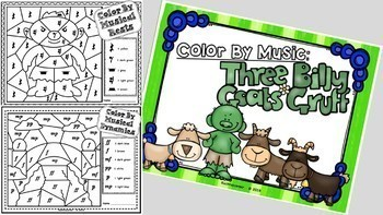 BUNDLE Set 1 - Color By Music:  Nursery Rhyme/Fairy Tale Collection