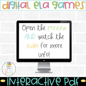 DIGITAL Short Vowel Task Cards Bundle