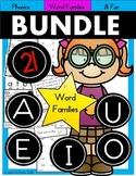 BUNDLE Short Vowel Phonics Activities (21 Word Families) 250+ Pages
