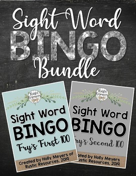 BUNDLE - Sight Word BINGO: Fry's First AND Second 100 Sight Words