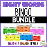 New Zealand Sight Words BINGO Magenta to Orange Levels