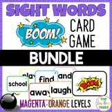 New Zealand Sight Words - BOOM Card Games- Magenta to Oran
