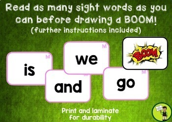 New Zealand Sight Words BOOM Card Games Magenta to Orange Levels
