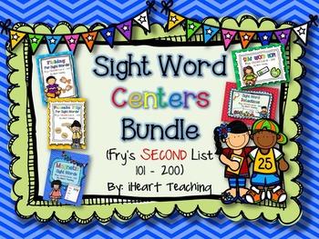 Sight Word Centers BUNDLE! {Fry's List 101 - 200}