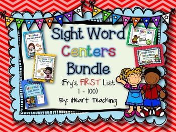 Sight Word Centers BUNDLE! {Fry's List 1 -100}