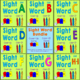 BUNDLE: Sight Word Cover-Up or Color-It Game List A-I