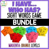 New Zealand Sight Words - I have, Who Has Game - Magenta t