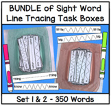 BUNDLE Sight Word Line Tracing Task Box (ALL 350 Words from Edmark Word Lists)