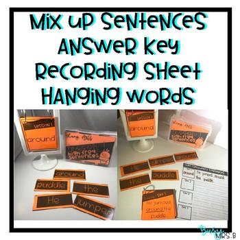 YEAR LONG BUNDLE Sight Word Mix Up Sentences
