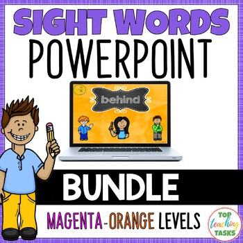 BUNDLE High Frequency Sight Word PowerPoint Presentations