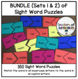 BUNDLE Sight Word Puzzles Task Box (ALL 350 Words from Edmark Word Lists)
