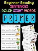 BUNDLE : Sight Word Sentences Worksheets & Posters - Dolch Primer