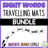 New Zealand Sight Words -  Travelling Mats - Magenta to Or