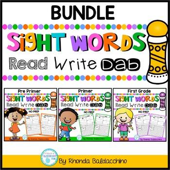 BUNDLE: Sight Words Read Write Dab