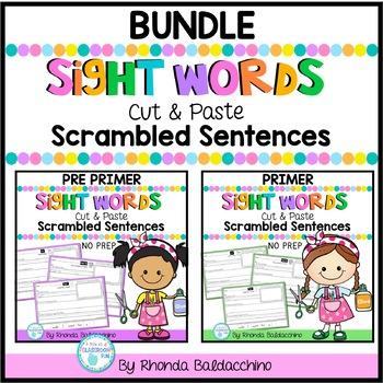 BUNDLE Sight Words Scrambled Sentences