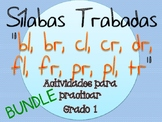BUNDLE Silabas Trabadas Paquete de actividades TODAS {Span