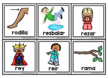 BUNDLE: Silabas abiertas Picture Cards