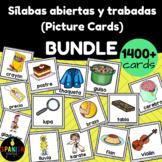 BUNDLE: Silabas abiertas y trabadas Picture Cards