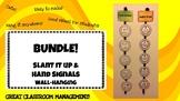 BUNDLE!! Slant it up & Hand signals Wall Hanging / Decor