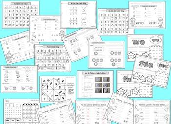 Kindergarten Morning Work Bundle--August, September, October