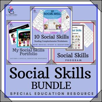 BUNDLE - 15 x SOCIAL SKILLS RESOURCES - Social Stories, Program, Workbooks