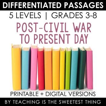 Social Studies BUNDLE Vol. 1: Differentiated Reading Passages