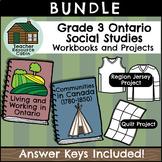 BUNDLE: Social Studies Workbooks and Projects (Grade 3 Ontario Social Studies)