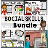BUNDLE. Social skills, behavior, emotion. Activities, worksheets and task cards.