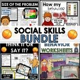 Social skills behavior activities worksheets task cards | Digital