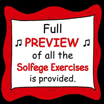 Solfege Syllable Exercises 1 and 2 BUNDLE ♫ ♫ ♫