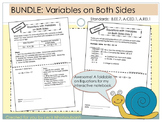 BUNDLE: Solving Equations with Variables on Both Sides Foldable