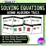 BUNDLE: Solving One-Step and Two Step Equations using Alge