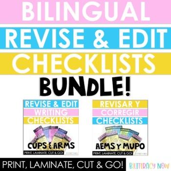 BUNDLE! Spanish & English Writing Checklists!