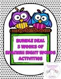 BUNDLE Spanish Sight Word Daily Activity (Weeks 1-5)