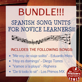 BUNDLE!!! Spanish Song Units for Novice Learners!!!