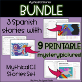 BUNDLE Spanish Story Readings with PRINTABLE MYSTERY PICTURES