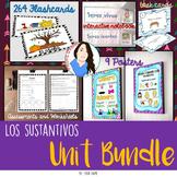 Spanish  Nouns UNIT BUNDLE- Los sustantivos {FLASHCARDS-ASSESSMENTS-WORKSHEETS}