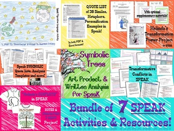 BUNDLE: Speak Novel Resources
