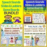 BUNDLE: Speech Sounds Slides & Ladders Game Boards