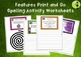 BUNDLE Spelling Activity Task Cards - Print and Go Student