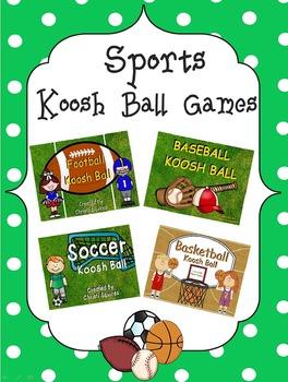 Sports Koosh Ball Games  (SMARTBoard)