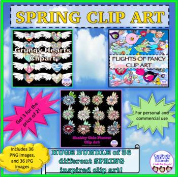 BUNDLE clipart, clip art, flowers, birds, hearts, watercolor clip art