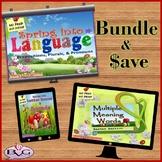 BUNDLE Spring Language Activities NO PREP NO PRINT