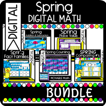 BUNDLE: Spring Word Problem Books: Addition & Subtraction within 10 & 20