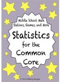 BUNDLE Statistics Math Stations for Common Core Sixth Grade