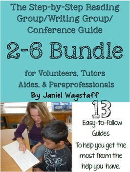 BUNDLE Step-by-Step Reading Group & Writing Guides for Tutors & Volunteers 2-6