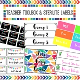 BUNDLE Sterilite & Teacher Toolbox Labels *EDITABLE*