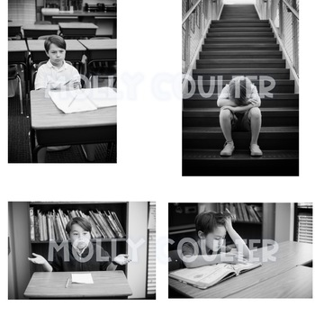 Stock Photo: B&W Emotions BUNDLE (feat. Children)-Personal & Commercial Use