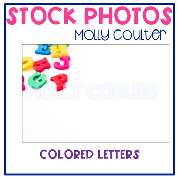 Stock Photo: Colored Alphabet Letters- Personal & Commercial Use