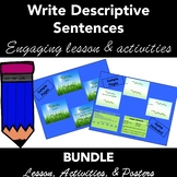 Writing Descriptive Sentences: PowerPoint Lesson Plan & Ac